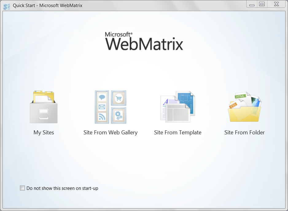Web Development 101: Part 1, Getting Started with WebMatrix